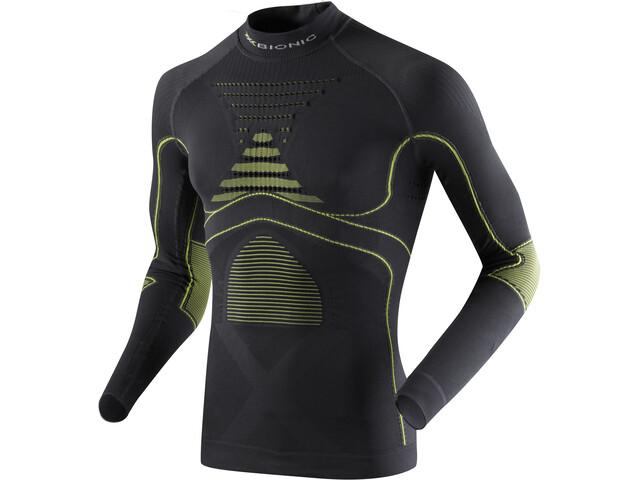 X-Bionic Accumulator Evo LS Turtle Neck Shirt Men Charcoal/Yellow